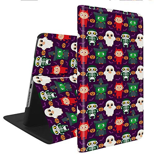 Compatible with iPad 9.7(2017 2018)/iPad Air/Air2, Slim Fit All Round Protect with Auto Sleep/Wake Standable PU Leather case - Funny Kids in Halloween Costume ()