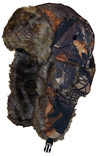 Best Winter Hats Adult Tree Camouflage Russian/Hunters W/Soft Faux Fur Winter Hat(One Size) - Maple