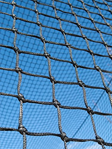 # 24-heavy Duty 100 % Twisted縄目ナイロン野球Backstop / Divider 10 ' h-20 ' H (選択カスタム幅) Made in USA & Finished 5 / 16