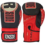 Ringside Apex Flash Sparring Gloves, 16 oz, Black/Red