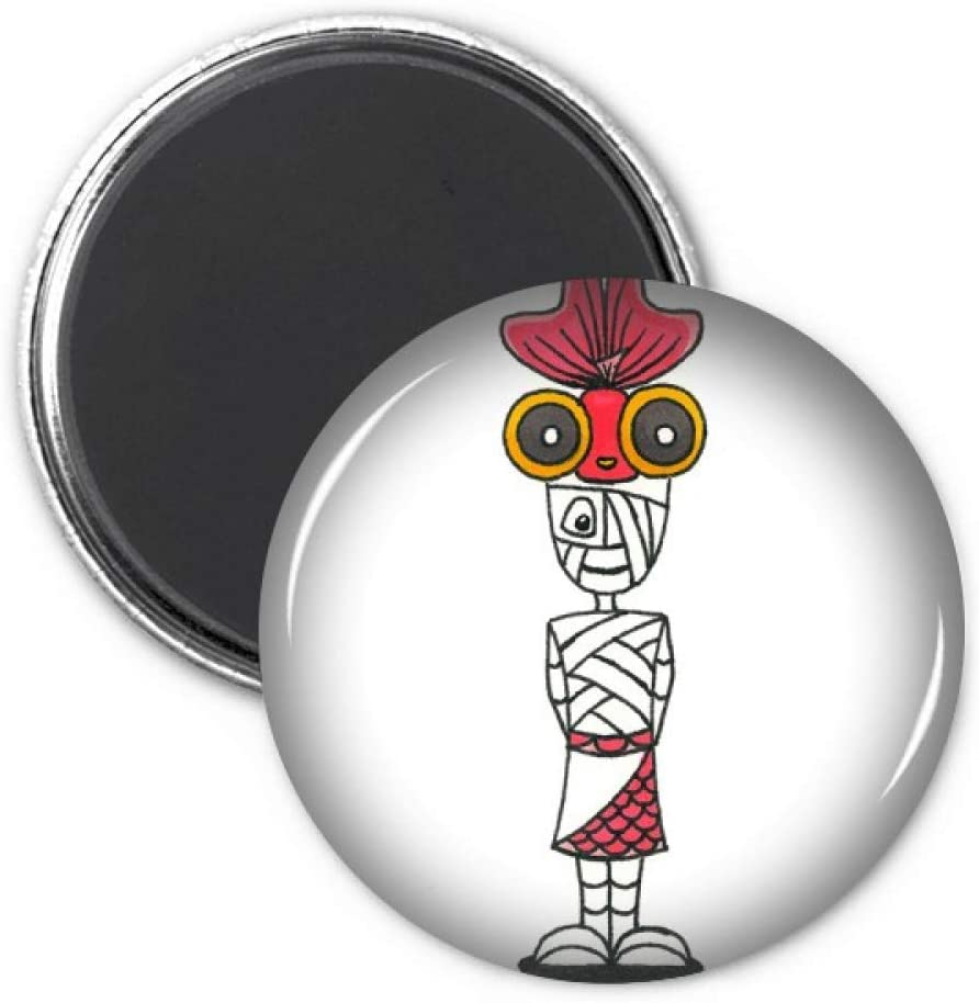 Egypt Mummy Horus Goldfish Hat Refrigerator Magnet Sticker Decoration Badge Gift