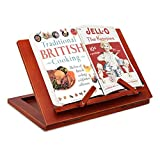Book Holder Stand for Reading, Foldable Book Bookrest for Books, Ipads, Tablets, Smartphones, Cookbook, Cook Recipe