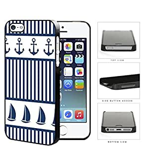 Sailboat And Boat Anchor Hard Plastic Snap On Cell Phone Case Apple iPhone 5 5s