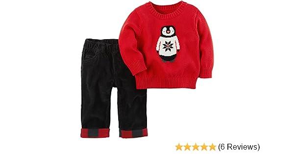 af62b1ad0b3c Amazon.com  Carter s Baby Boys  2 Piece Penguin Top and Pants Set ...