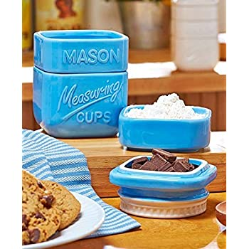 Amazon Com Mason Jar Ceramic Measuring Set Cups And