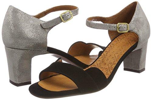 Donna ante Sandali Nero stella Cinturino Negro Grey Lace Caviglia Con Alla Mihara Chie qpzO0x