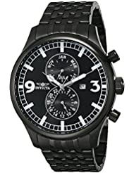 Invicta Mens 0367 II Collection Black Ion-Plated Stainless Steel Watch