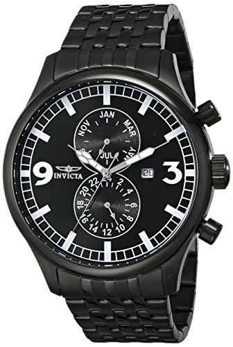 Invicta Men's 0367 II Collection Black Ion-Plated Stainless Steel Watch ()