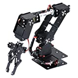 D DOLITY Deluxe DIY 6 Degree of Freedom Robotic Arm Circuit Kits for Arduino Learn & Teach Students Study