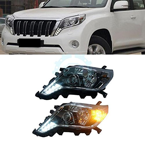 Original OEM Style Head lamp For Toyota Prado Headlight Assembly Accessories 2014 2015 2016 2017 Year Front Lamp Bifocal Projector Led DRL Led Turning Light