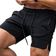 #LightningDeal COOFANDY Men's Gym Workout Shorts Weightlifting Squatting Short Fitted Training Bodybuilding Jogger with Pocket