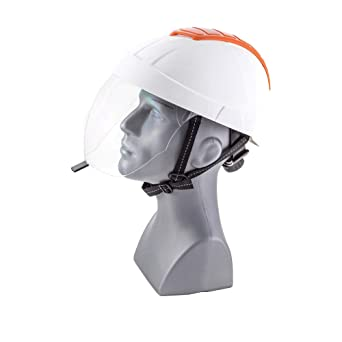 ENHA 22EMA1103100 E-MAN 4000 - Casco de seguridad, color blanco y naranja