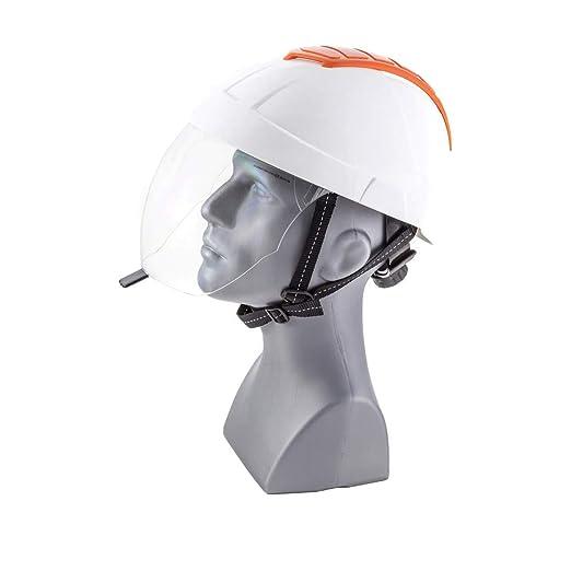ENHA 22EMA1104000 E-MAN 4000 - Casco de seguridad, color blanco y ...