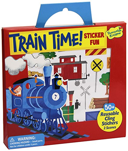 Peaceable Kingdom Train Reusable Sticker product image