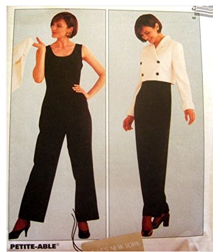 - McCall's sewing pattern 8547 designer jumpsuit and cropped jacket - Size 12-14-16 ...