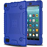 Zenic Kindle Fire 7 2017 Case, New Fire HD 7 Case, Slim Lightweight Silicone Shockproof Protective Case Cover for Kindle Fire 7 2017/All-New Fire HD 7 2017 Release (Blue)