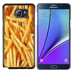 EJOOY---Cubierta de la caja de protección para la piel dura ** Samsung Galaxy Note 5 5th N9200 ** --Papas a la francesa de comida basura amarilla rápido