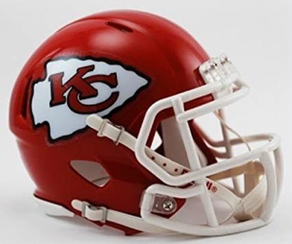 6419b344 Riddell Kansas City Chiefs NFL Replica Speed Mini Football Helmet