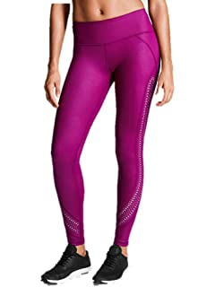 5e2aa5982f2ac Victoria's Secret Sport Knockout Tight Pants Pink Plum Laser Cut Out Gym  Large New