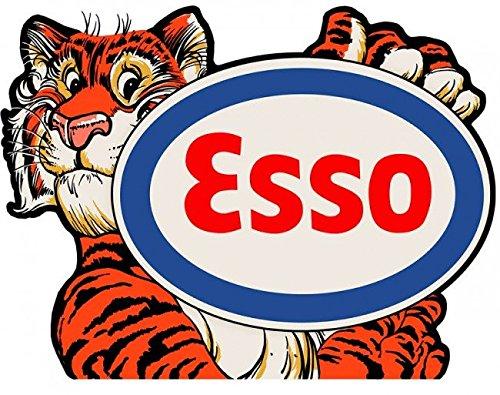 Esso Tiger Diecut Sign