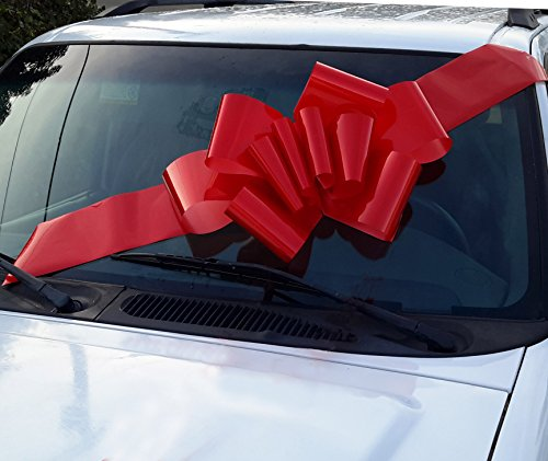23″ Red Car Bow