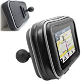 "ChargerCity XXL Water Resistant 5"" GPS Case for Garmin Nuvi Drive DriveSmart 50 51 52 54 55 56 57 58 2597 2595 2599 LM LMT TomTom XL 3xx XXL 5xx GO VIA Start GPS w/ 1"" male ball connection"