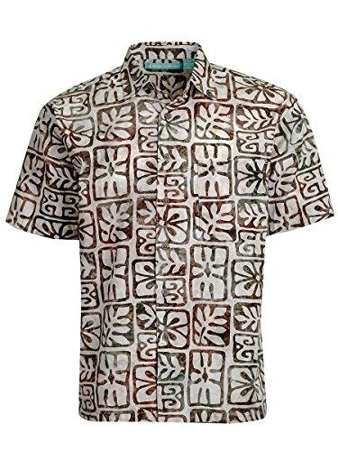 Artisan Outfitters Moonstone Batik Cotton Shirt (Sand Brown, 4XLT) AO118-1013-4XLT