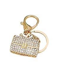 WHATWARES Handbag Keyring Rhinestone Charm Pendant Keychain Key Chain Bag Gift