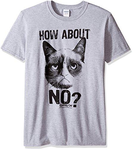 Grumpy Cat How About No Herren Grau T-Shirt