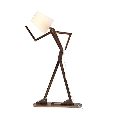 Gentil HROOME Cool Tall Decorative Floor Stand Lights Adjustable Corner Floor Lamp  With Shade For Bedroom Office Wooden Swing Arm Lamps (Teak)     Amazon.com