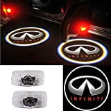 Moonet 2x Door LED Courtesy Shadow Ghost Lamp Projector Light for Infiniti Ex Fx G M Series Jx35 Q50 Q70 Qx70 Qx50