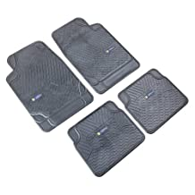 Highland 4647900 Weather Fortress Black Synthetic Rain Floor Mat - 4 Piece