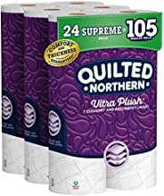 Quilted Northern Ultra Plush Toilet Paper, 24 Supreme Rolls, 24 = 99 Regular Rolls, 3 Ply Bath Tissue,8 Count