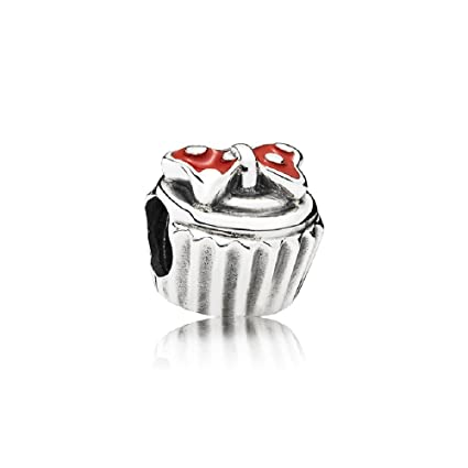7ed711487 Amazon.com: Pandora 791463EN09 Disney Minnie Bow Cupcake Charm: Sports &  Outdoors