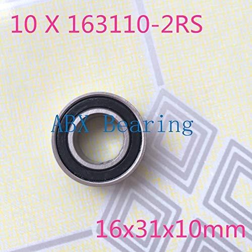 - Ochoos 10pcs/lot 163110-2RS 163110 Ball Bearing 16x31x10mm 163110 2RS Bike axis Repair Bearing unstandard 6002-2RS - (Diameter: 12pcs)