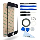 """IPHONE 6 / 6S 4,7"""" BLACK Display Touscreen Replacement Kit 12 Pieces Including 1 Replacement Front Glass For IPHONE 6 / A1549 A1586 6S / A1633 A1688 1 Pair of Tweezers / 1 Roll of 2MM Adhesive Tape / 1 Tool Kit / 1 Microfiber Cleaning Cloth / Suction Cup / Wire"""