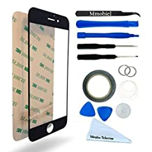 "IPHONE 6 / 6S 4,7"" BLACK Display Touscreen Replacement Kit 12 Pieces Including 1 Replacement Front Glass For IPHONE 6 / A1549 A1586 6S / A1633 A1688 1 Pair of Tweezers / 1 Roll of 2MM Adhesive Tape / 1 Tool Kit / 1 Microfiber Cleaning Cloth / Suction Cup / Wire"