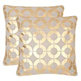 Safavieh Bailey Gold Throw Pillows (Set of 2), 22'' x 22''