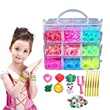 QMAY Loom Bands, 4500 Rubber Craft Band Kit -15 Colors Toy Set Box Kids Gift
