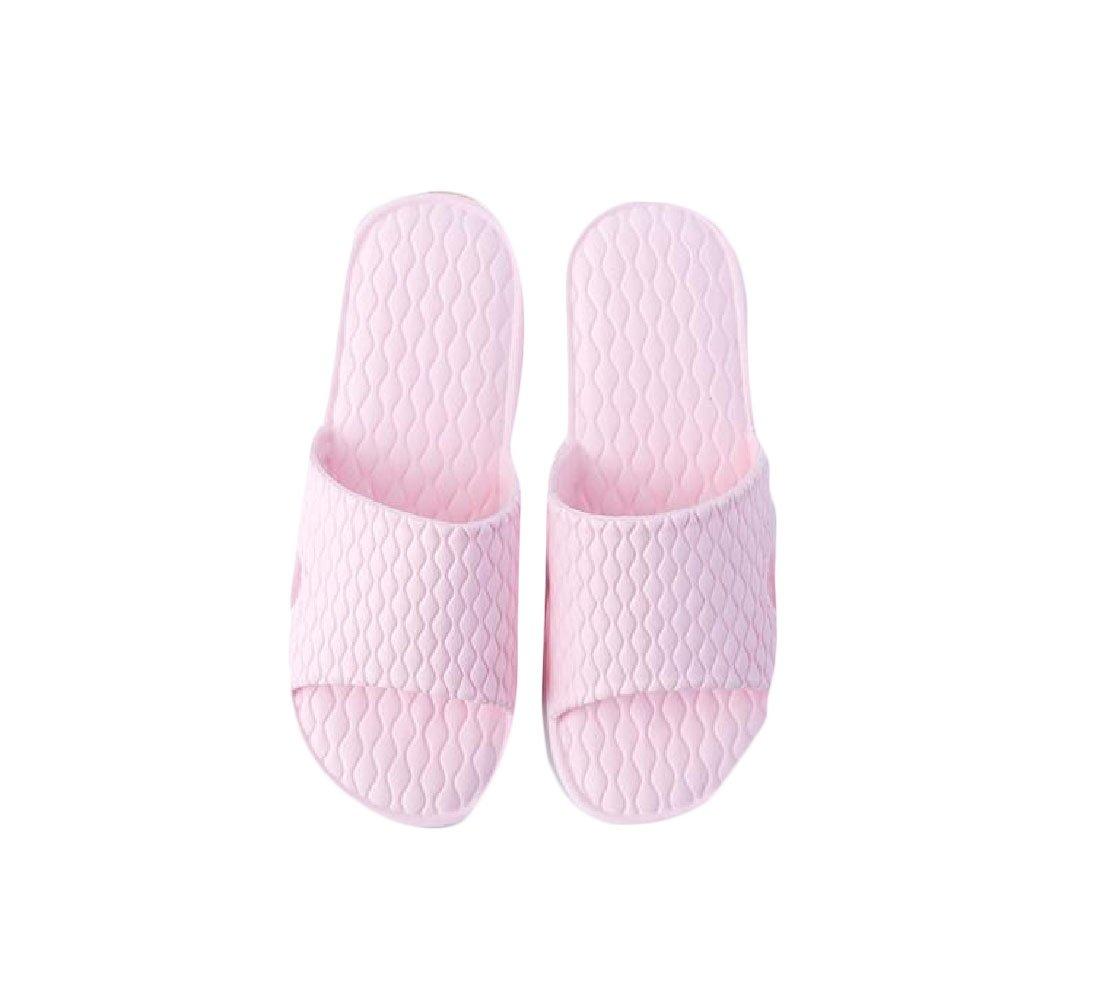 Tootless Women Mule Anti-Slip Comfort Slides Bathroom Indoor Floor House Slippers Pink 6 B(M)