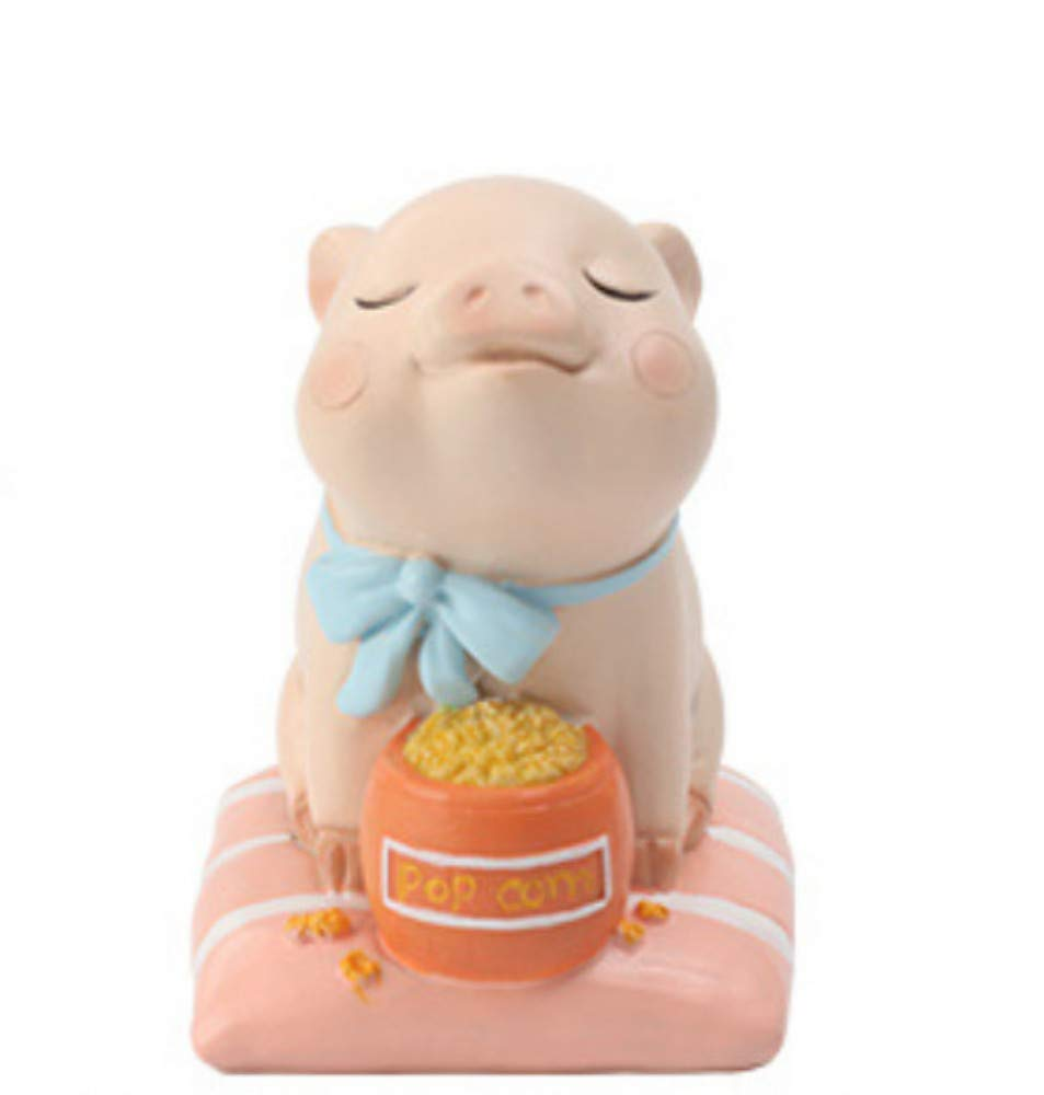 4 JIAHUADE Lazy Pig Life Ornaments Cute Creative Cute Pet Baby Gift Resin Gift New Year Decoration,4