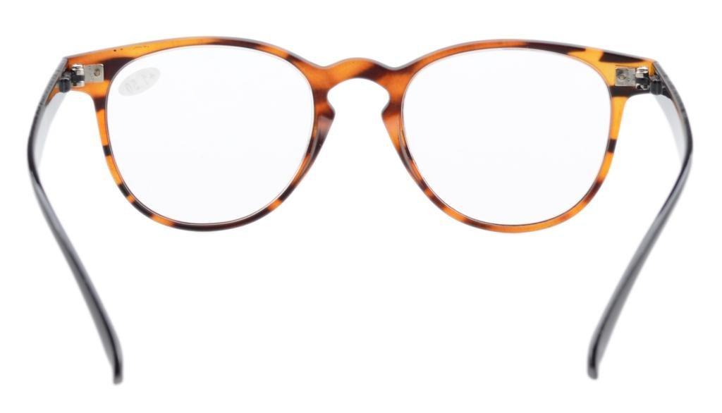 Eyekepper Readers occhiali da lettura grandi tondi di qualità cardine a molla neri +2.0 U6LWfo