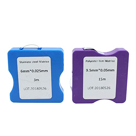 Healifty Oral Tools1 Rolle Dental Edelstahl Matrix Bands Polierstreifen Zahnmedizin Laborausr/üstung Dental Tools