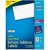 Avery 18167 Return Address Label Laser/Inkjet 1/2'' x1/3/4 800/PK White