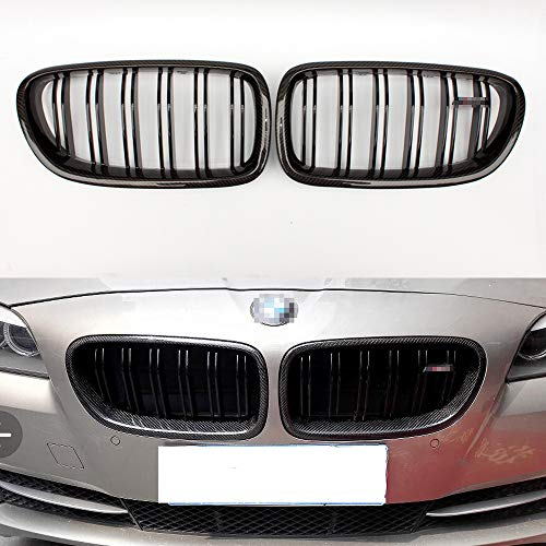 (Carbon fiber M5 style front grill for BMW 5 series F10 F11 2010-2016 520i gloss black)