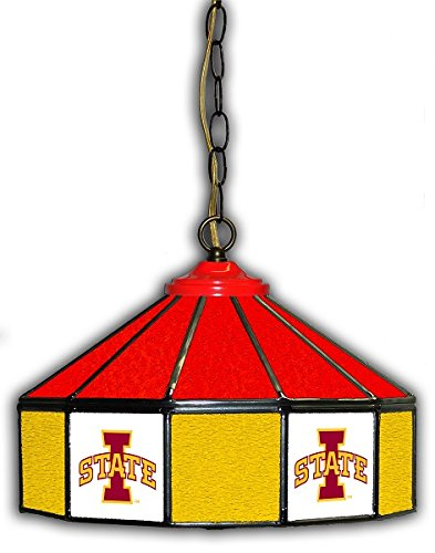 Official Licensed NCAA IOWA STATE 14'' Glass Pub Lamp by Imperial International by Imperial