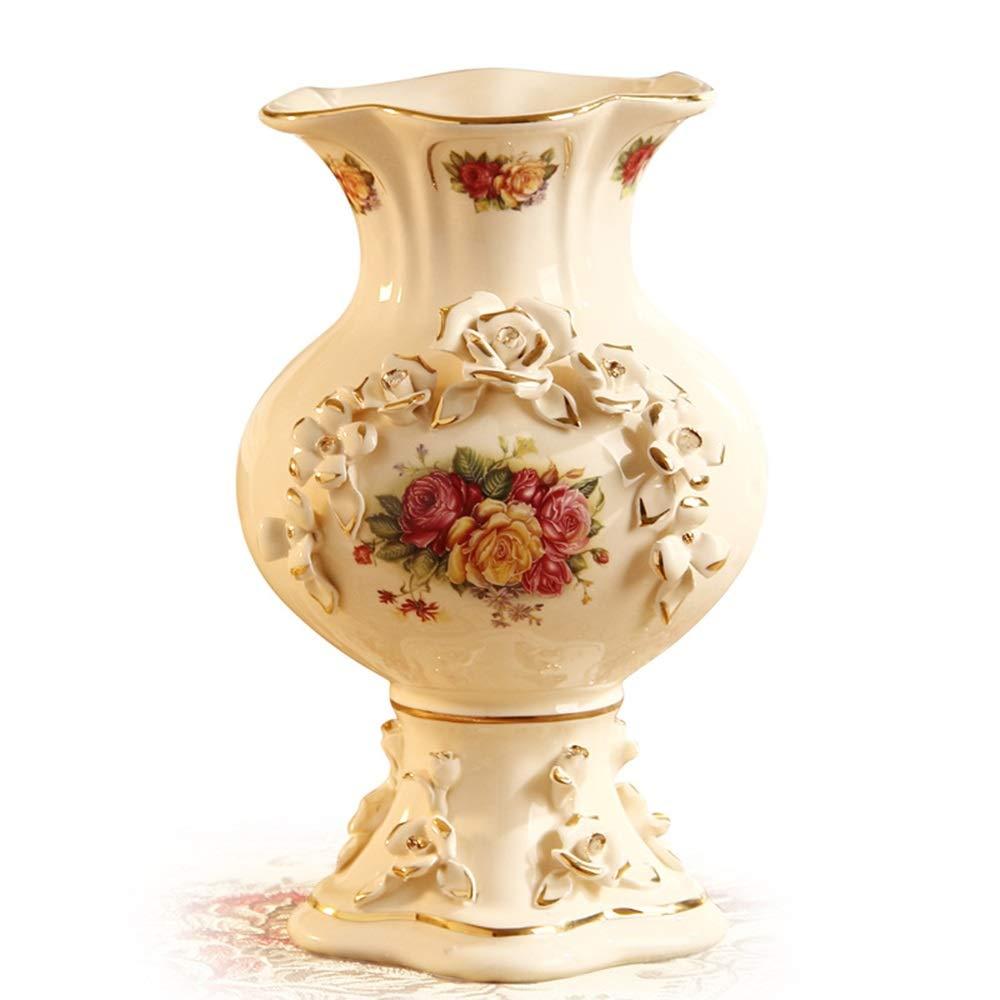 セラミック花瓶用花緑植物結婚式植木鉢装飾ホームオフィスデスク花瓶花バスケットフロア花瓶ヨーロッパスタイル B07RJ3F7V4