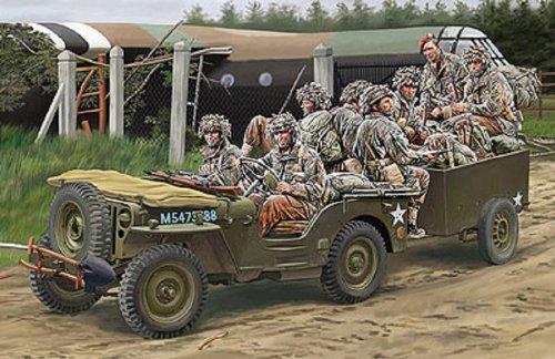 ブロンコモデル 1/35 英1/4ton空挺用小型兵員車&トレーラー+英降下兵8体 B00GOKRHGA