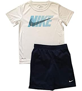 7d93c57d3236 NIKE Little Boys Dri-Fit Two Piece Tee Shirt and Shorts Set Binary Blue Size