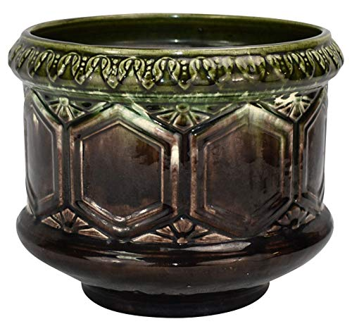 Brush McCoy Art Pottery Blended Green and Brown Onyx Ceramic Jardiniere 228